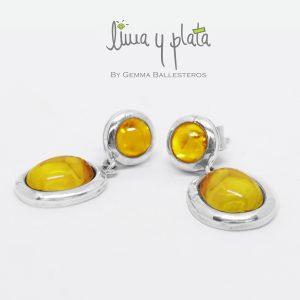 aretes zirconia amarillo