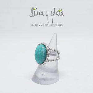 anillo de plata mujer