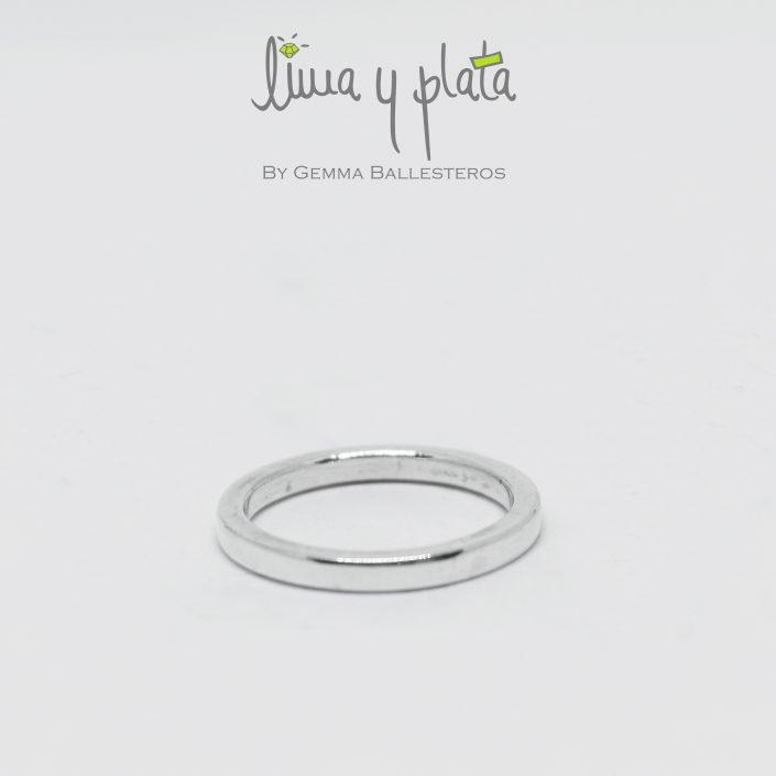 anillo de plata 950