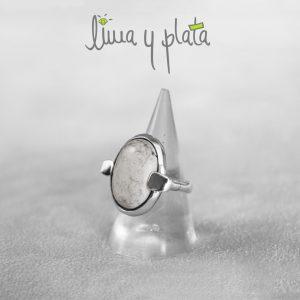 anillo de jade blanco